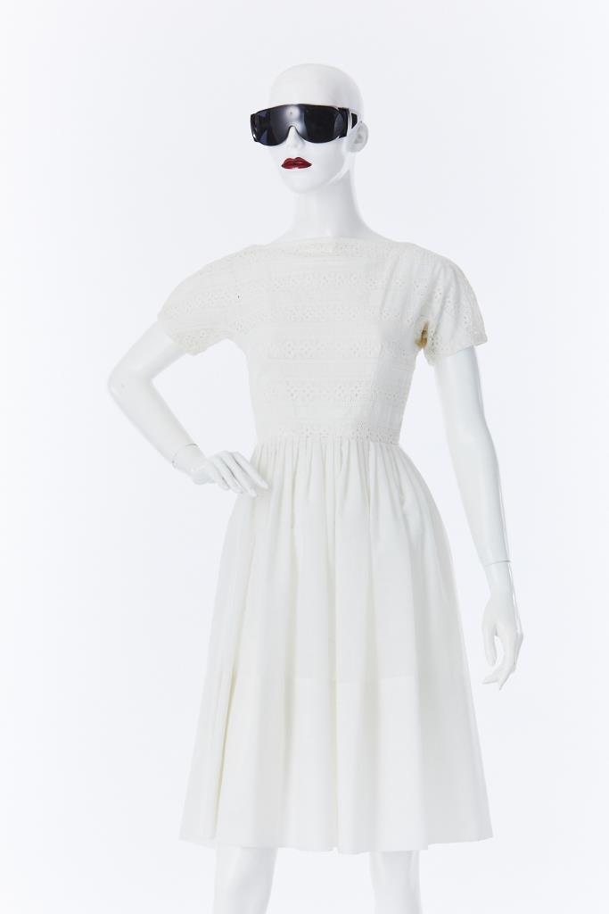 ADR500132 ボーダーレースドレス