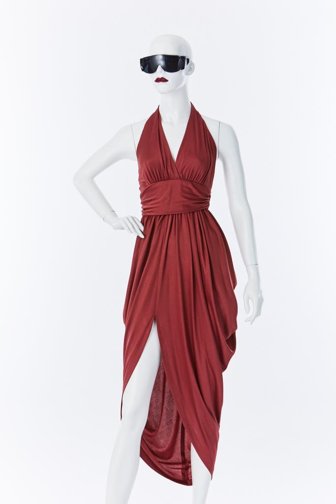 ADR500142 ホルターネックドレス