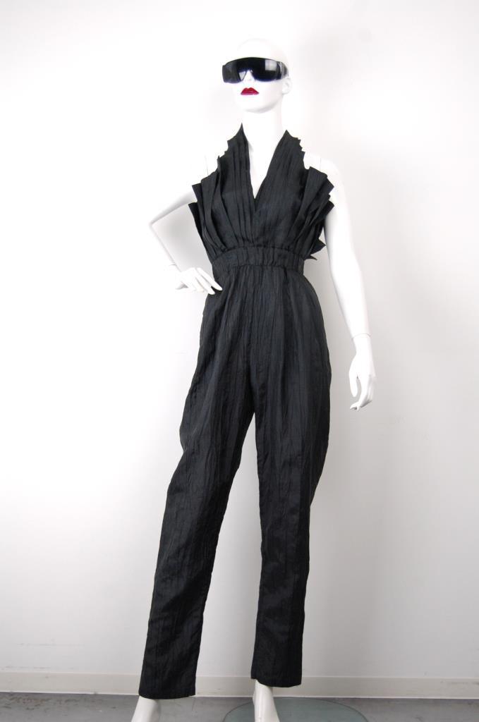 AJU001671 ブラックジャンプスーツ
