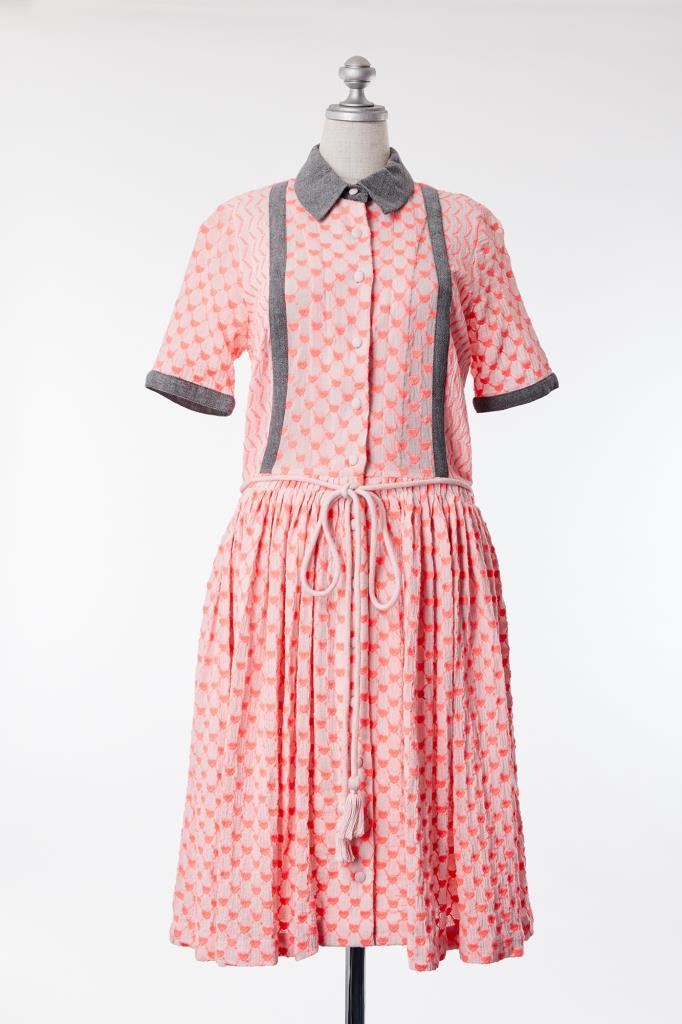 DR100020 MANOUSH 襟付きドレス