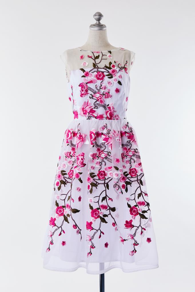 DR100026 SI-JAY 花柄 刺繍ドレス