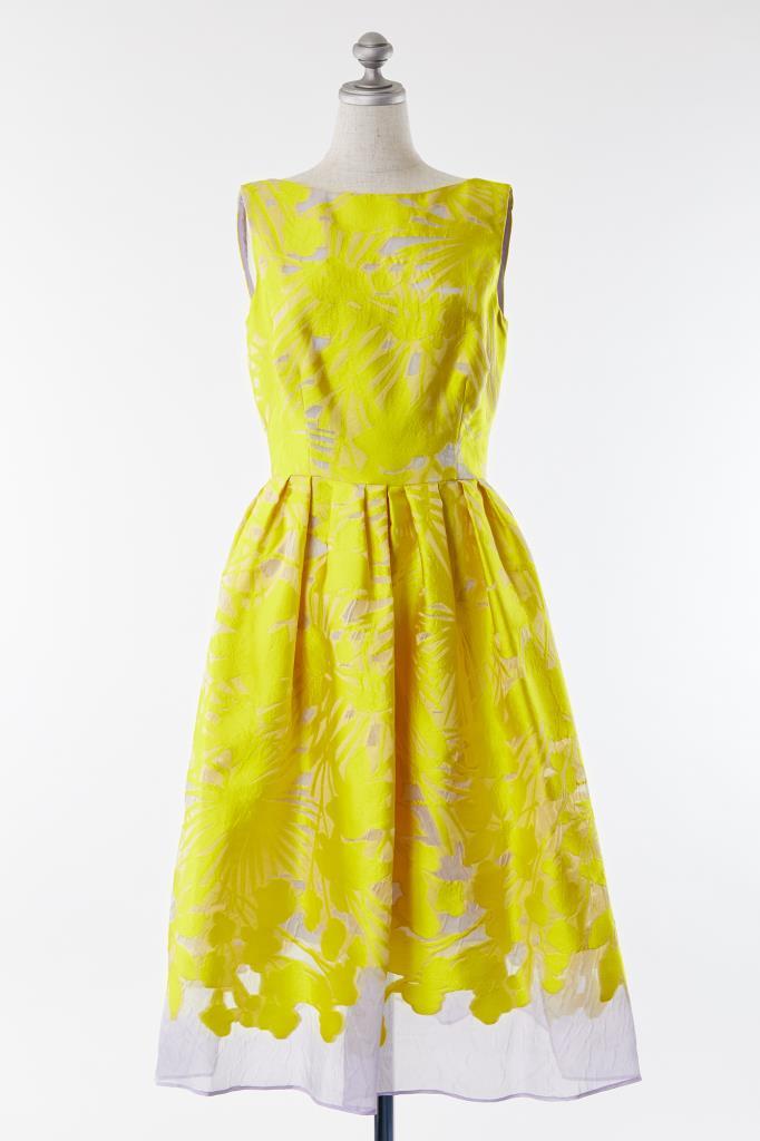 DR100028 Lela Rose イエロー花柄 ドレス