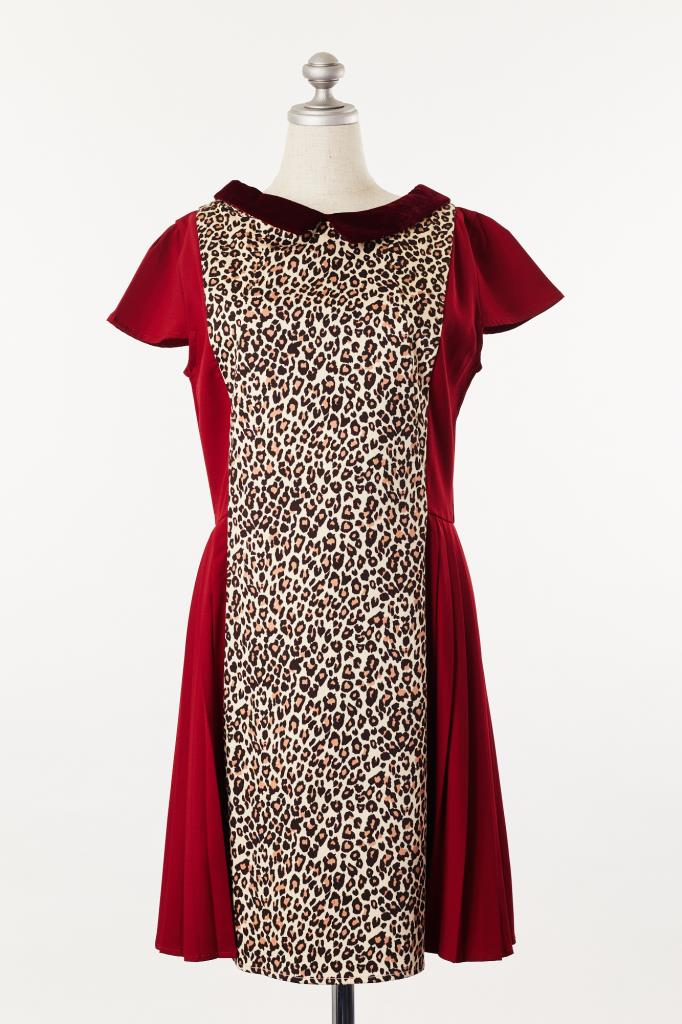 DR100049 2%TOKYO 豹柄ドレス