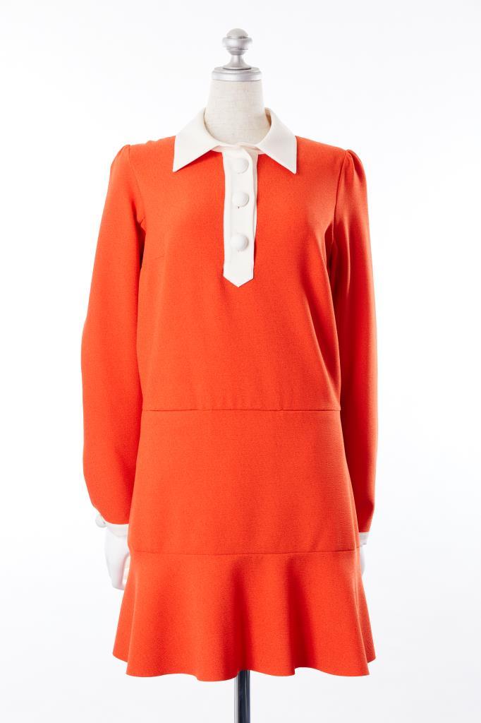 DR100055 SEE BY CHLOE オレンジドレス