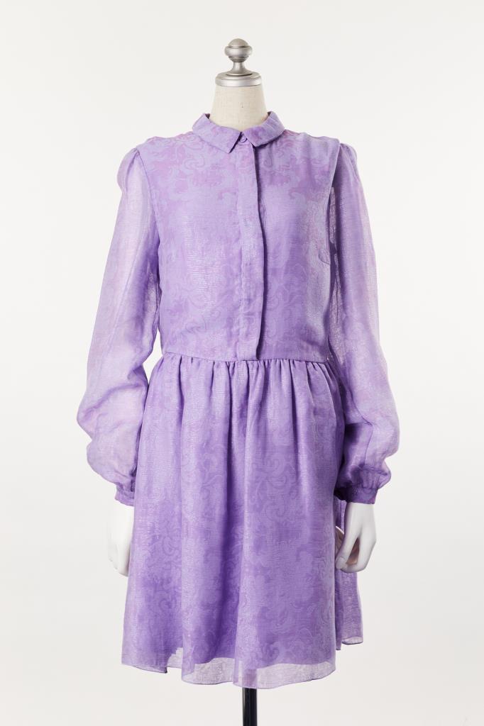 DR100083 BLANCHETT DAME 薄紫ドレス