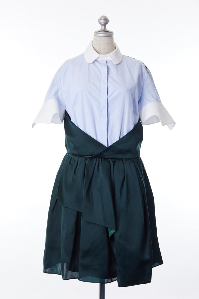 DR100098 CARVEN 切替シャツドレス