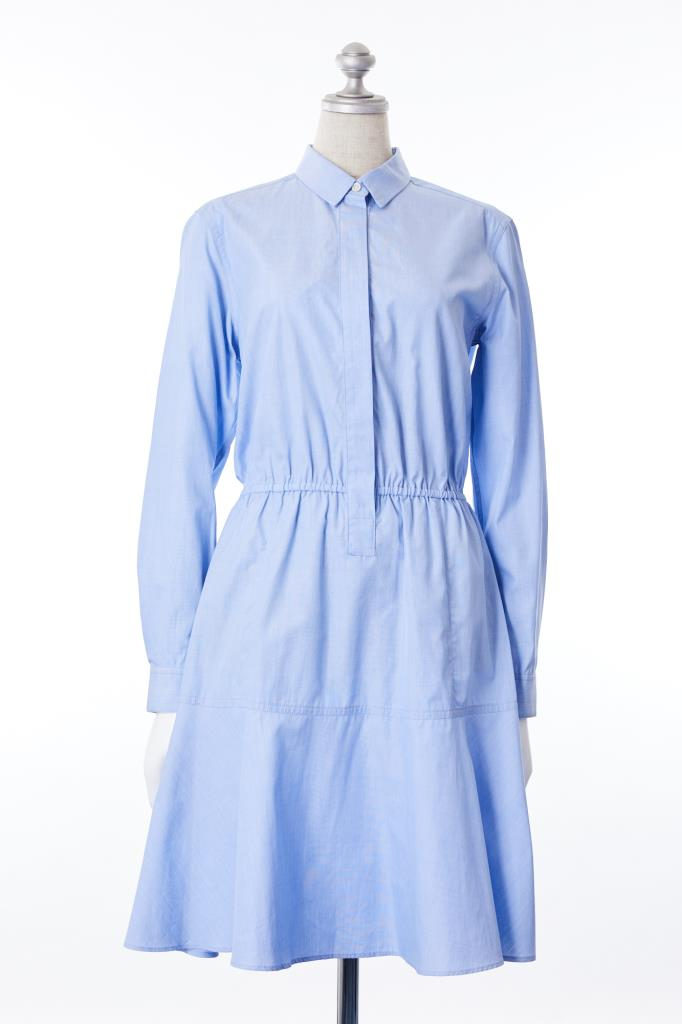 DR100099 MACPHEE ブルーシャツドレス