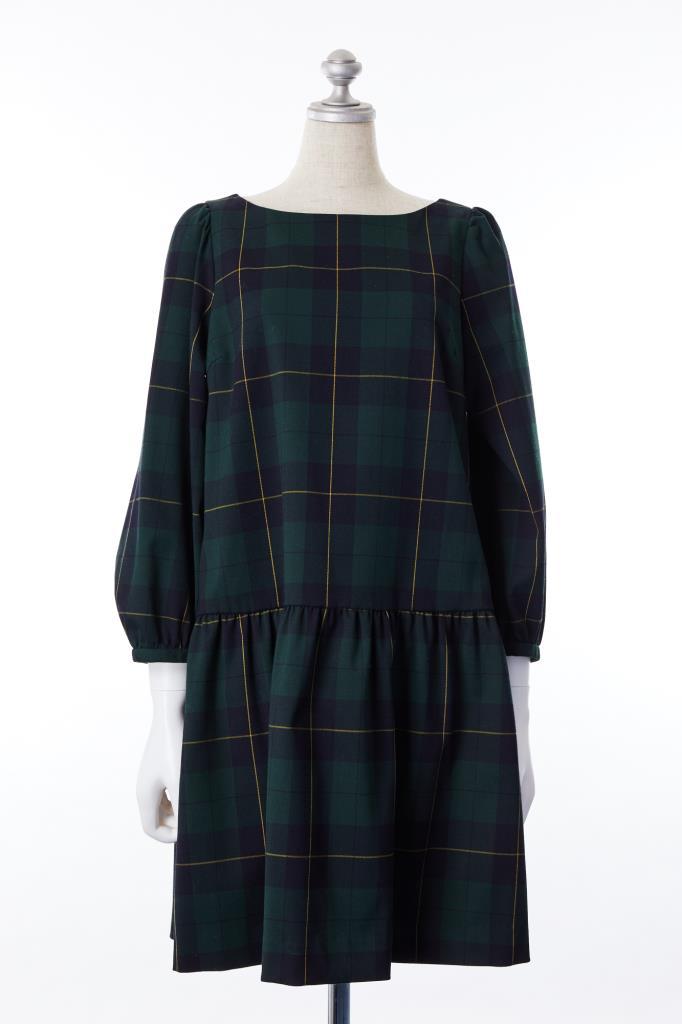 DR100111 Bon mercerie チェック柄ドレス