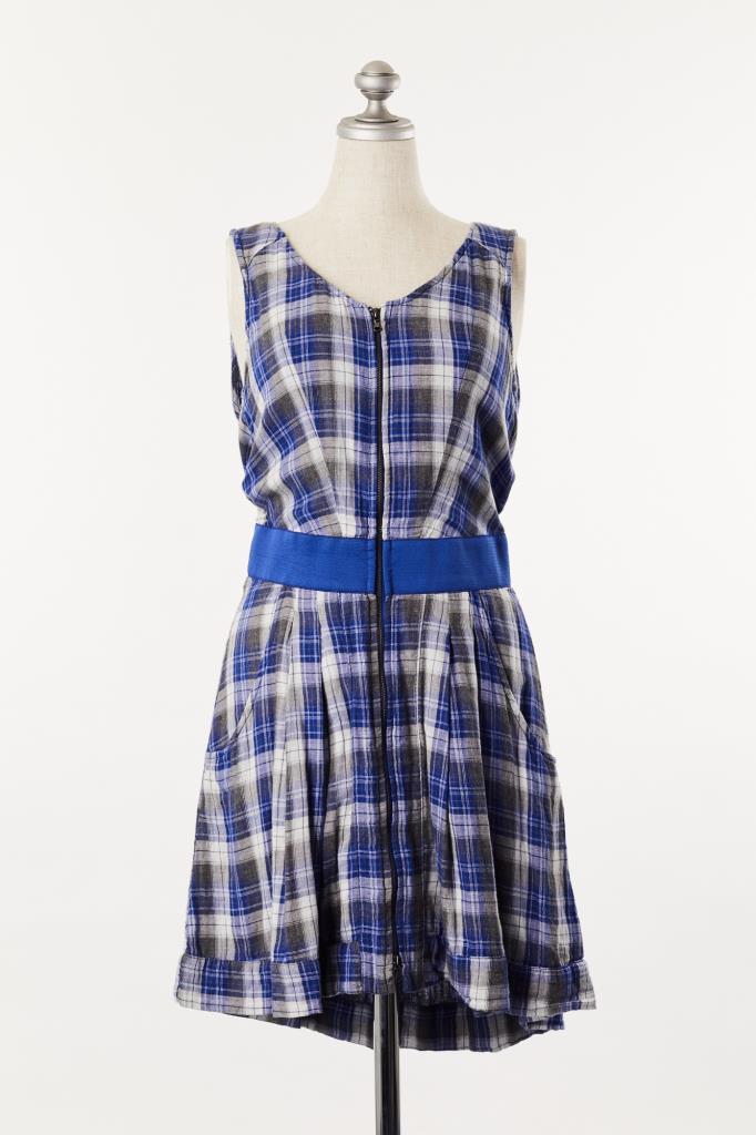 DR100113 DIESEL ブルーチェックドレス