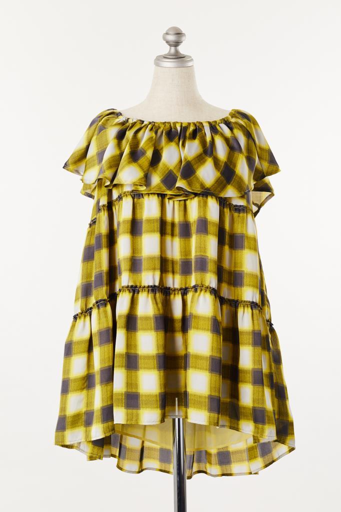 DR100118 Ray BEAMS チェック柄ドレス