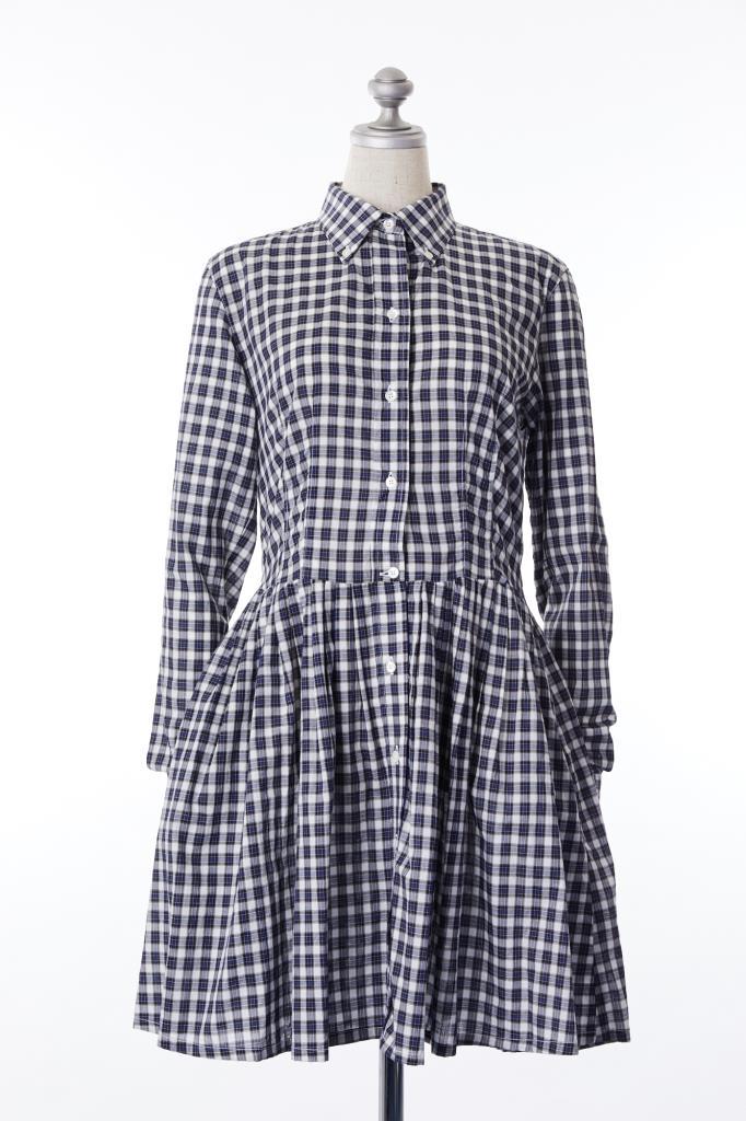DR100129 THOMSEN チェックシャツドレス