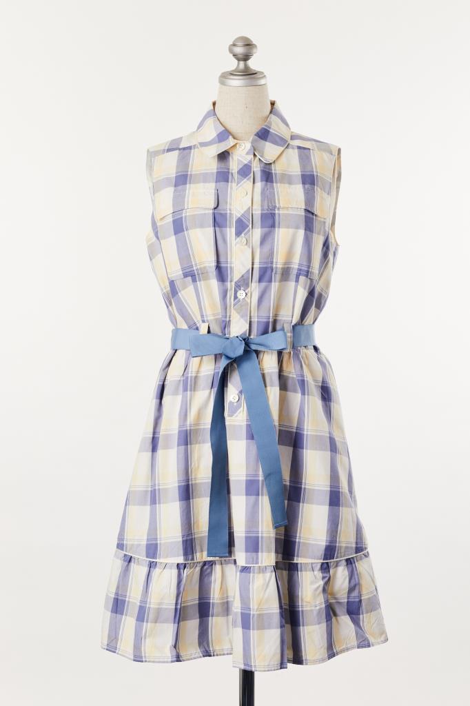DR100148 FRAY I.D チェックシャツドレス