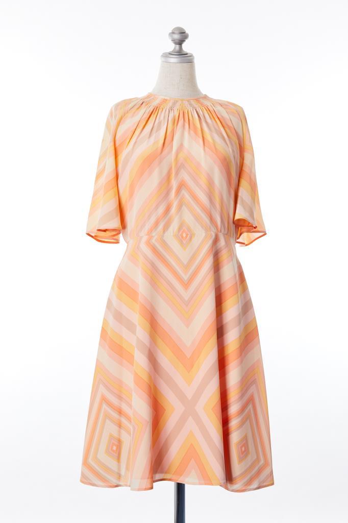 DR100174 VALENTINO 幾何柄ドレス
