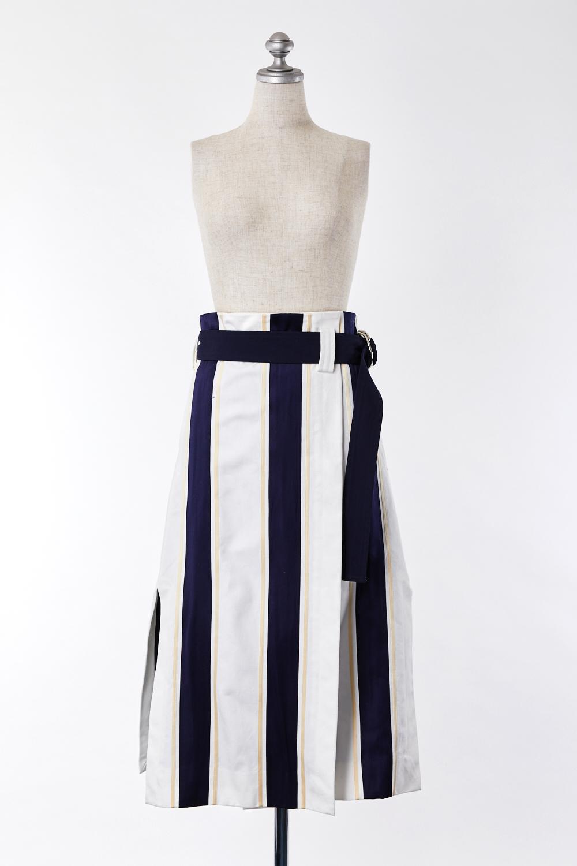 SK020002 CINOH ストライプ 巻きスカート