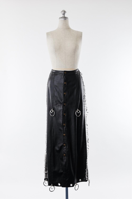 SK210137 ピン付ロングスカート
