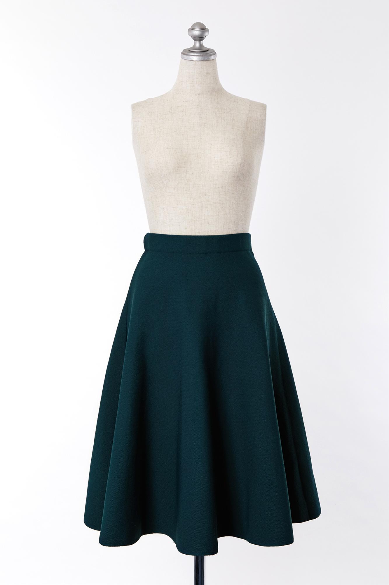 SK600020 LE CIEL BLEU グリーンスカート