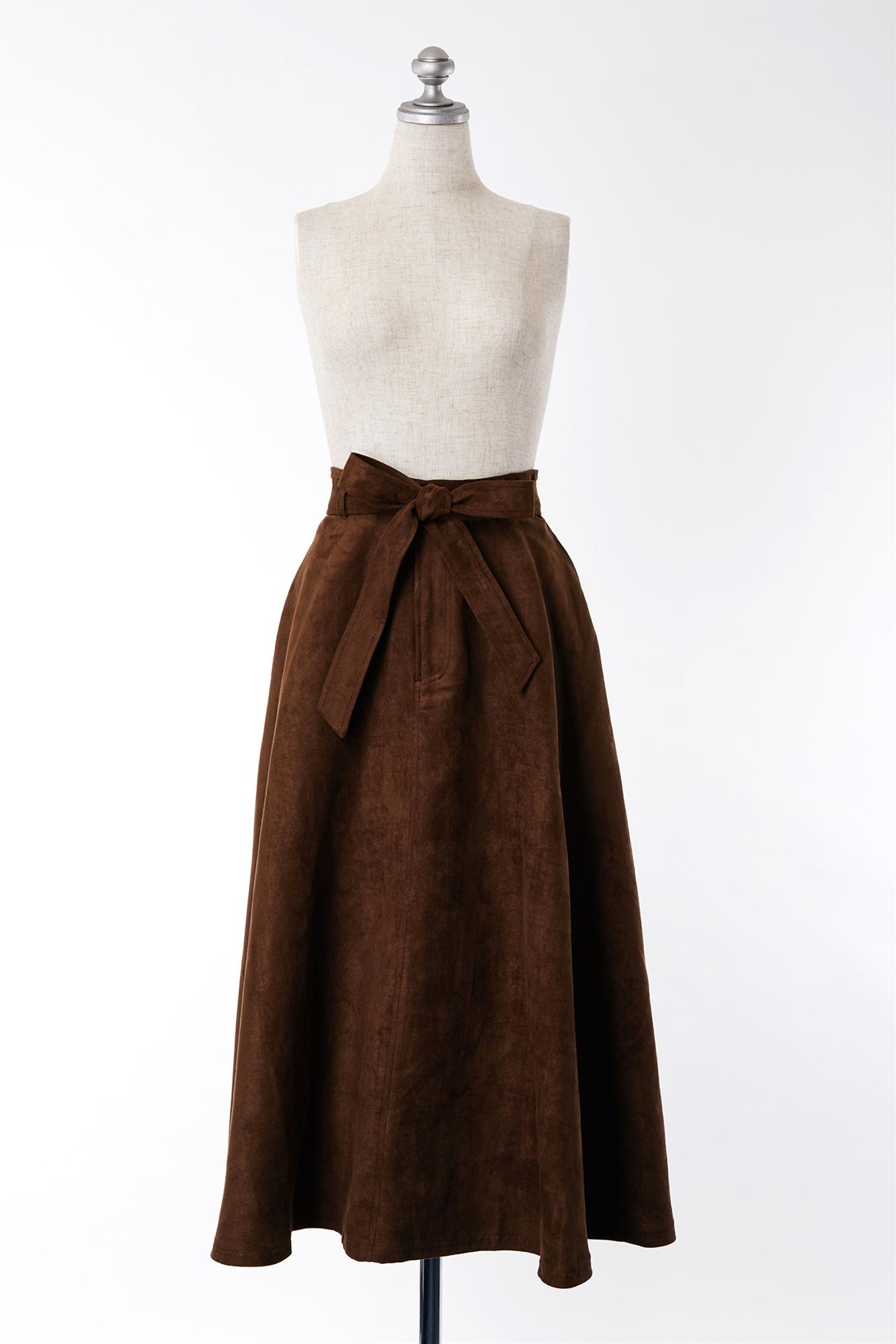 SK600073 Lipstarブラウンリボンスカート